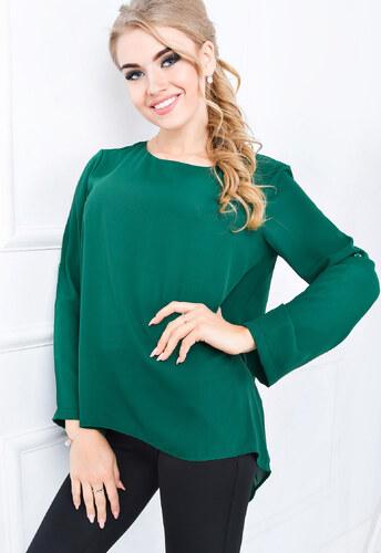 5689772ecd1d Asymetrická zelená blúzka - 84351 odtiene farieb  zelená - Glami.sk