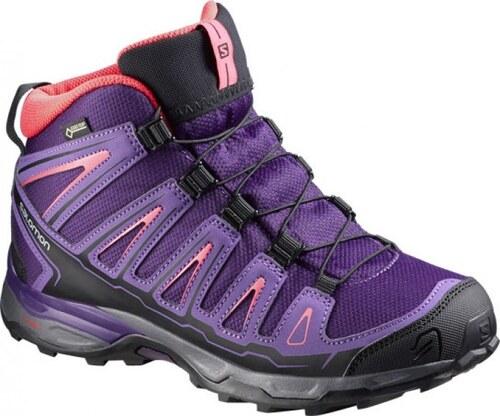 Dětské trekové boty Salomon X-Ultra MID GTX(R) J Cosmic purple rain  purple madder pink 0abdd4b79e3