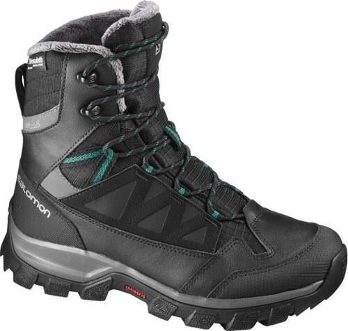 Dámské zimní boty Salomon Chalten TS CSWP W L39173200  Black autobahn veridian green f5bdb23d59