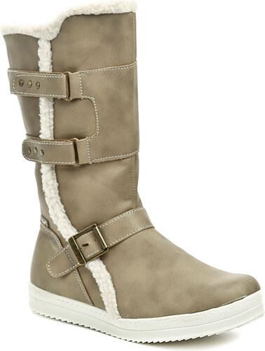Dětská obuv Peddy PR-233-32-02 šedé dívčí kozačky - Glami.cz 3f33147478