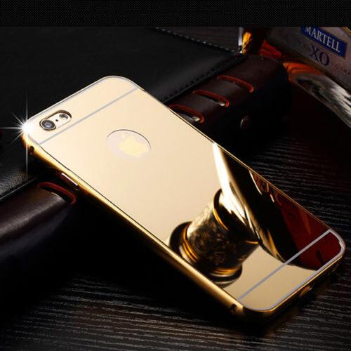 731fe281a Luxusní kovové zrcadlové pouzdro pro Apple iPhone 5 / 5S / SE - zlaté