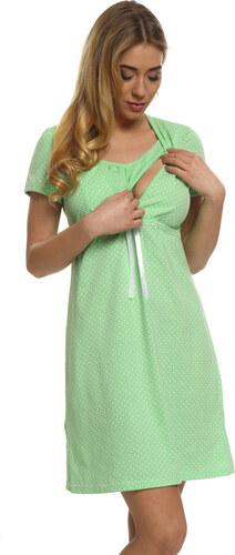 6018fb3a7c45 Italian Fashion Bavlnená tehotenská nočná košeľa Alena zelená - Glami.sk