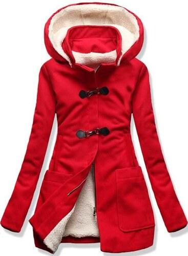 Červený kabát 8253 - Glami.sk 98a2c508271