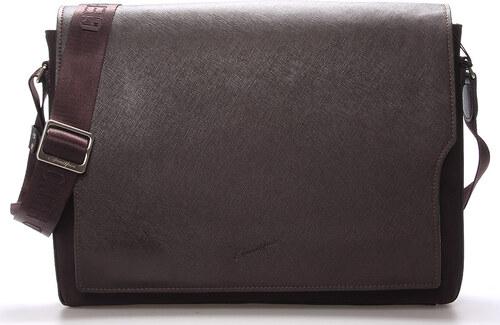 Pánská kožená taška přes rameno hnědá - Gerard Henon Jean hnědá ... 427a1e3810