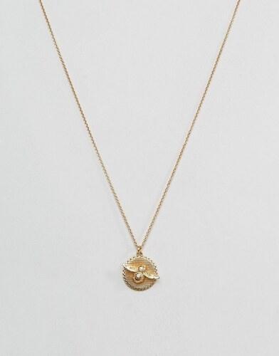 Olivia Burton Halskette Mit Geformter Biene Und Münze Gold