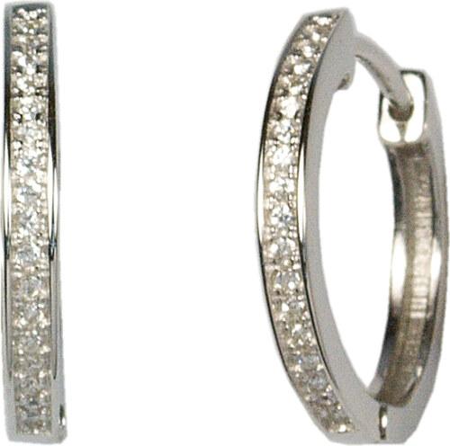 b86b9df14 Infinity Stříbrné naušnice kroužky L436183 - Glami.cz
