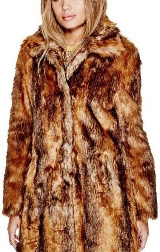 f0e3c11f5e5 Kožich Guess Abigail Faux-Fur Coat - Glami.cz