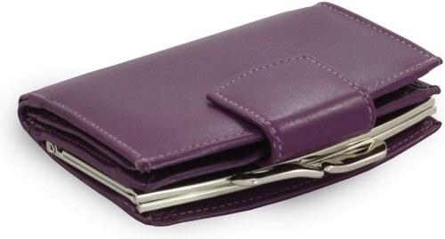 Arwel Fialová dámská kožená rámová peněženka Finley - Glami.cz 11dfae67ce5