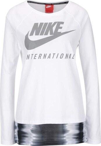 d53ed6e11bbc Biele dámske tričko s dlhým rukávom Nike International Top - Glami.sk