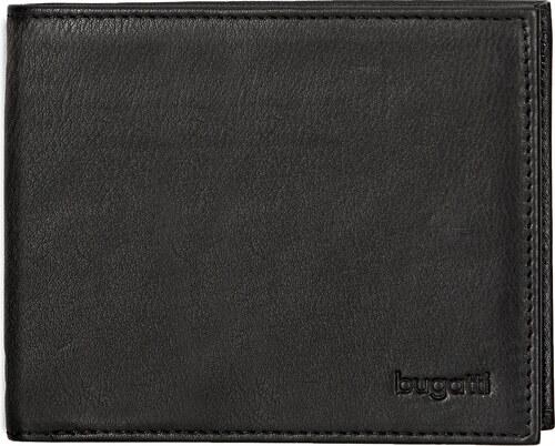 Bugatti Pánská kožená peněženka SEMPRE 49117801 černá - Glami.cz 54e851362a