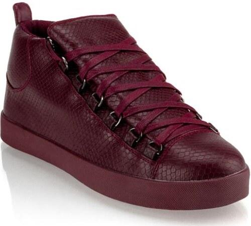 2c22e7520cac Manstyle Pánske moderné kožené topánky (tenisky) GOV DENIM 008-3BO gaštanové