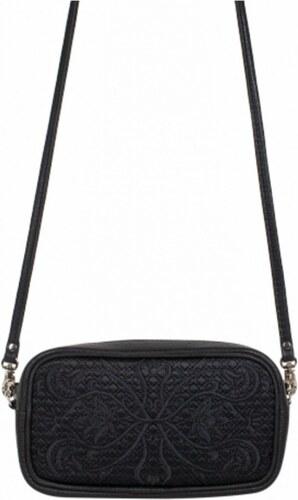 Ostatní Kožená vyšívaná kabelka Goshico do ruky i na rameno FANCY černá 16864c3e55a