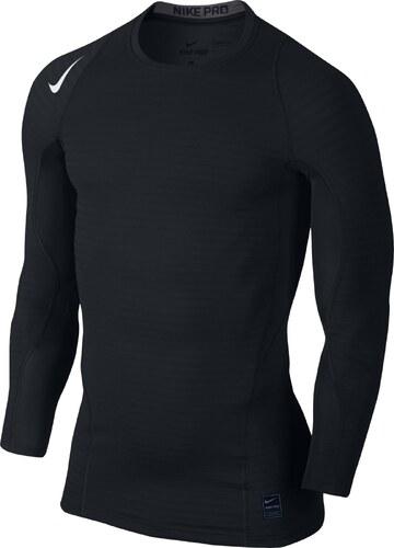 Pánské kompresní tričko Nike WARM COMP LS CREW BLACK DARK GREY WHITE ... 0b39e21baf5