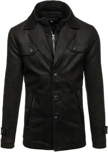 8c22276062c1 Čierny pánsky zimný kabát BOLF 3141 - Glami.sk