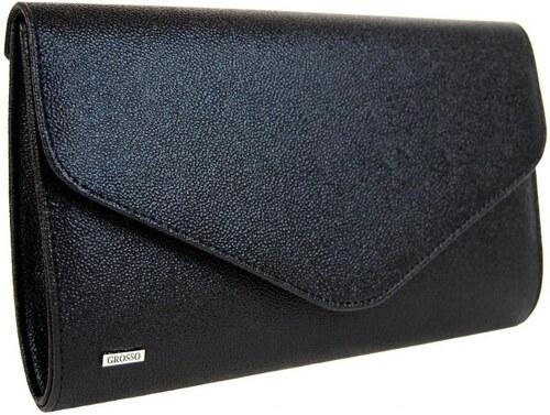 f22025411d Grosso Malé kabelky Černá hrubá společenská listová kabelka SP102 Grosso