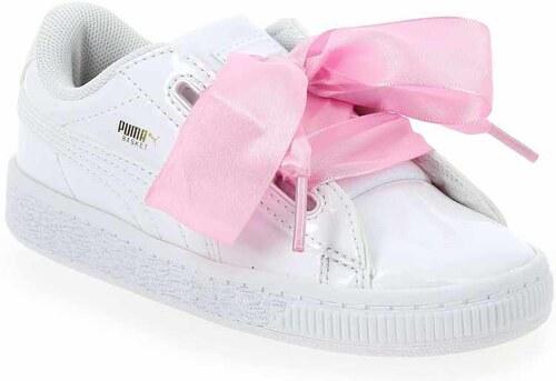 Baskets Puma en Synthétique BASKET HEART Blanc pour Enfant fille - Promo AbQzGSo4HS