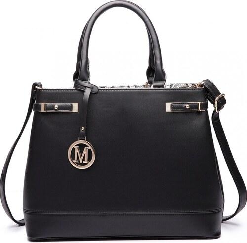 Lulu Bags (Anglie) Čierna moderná business kabelka Miss Lulu - Glami.sk a8abeee1d62