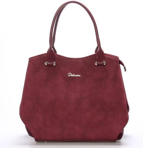 3013da1d48 Elegantní semišová kabelka přes rameno vínová - Delami Brigitte vínová