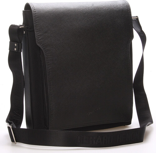 Pánská kožená taška přes rameno černá - Gerard Henon Bernard černá ... a715482d13