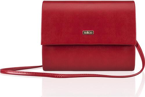 Červená listová kabelka Felice (F14 red matt) odtiene farieb  červená 632bf48afd6