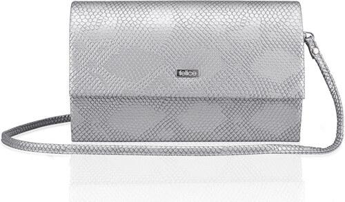 8429d04c66 Strieborná listová kabelka Felice (F13 silver snake) odtiene farieb   strieborná
