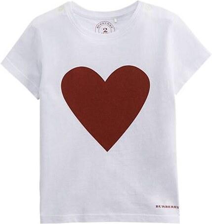 T-shirt enfant avec imprimé coeur Blanc Burberry - Glami.fr 992392bdf41