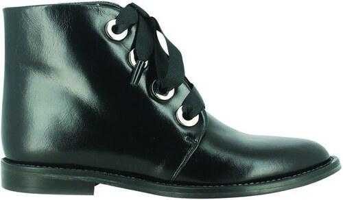 Jonak Boots plates en cuir Dayen Noir EC3lkGxa6