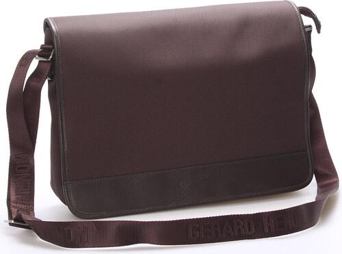 Pánská elegantní taška přes rameno hnědá - Gerard Henon Laurent hnědá 1133693dd4