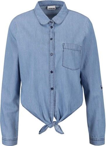 ffc6c61d0e5 Světle modrá džínová košile s vázáním na uzel Noisy May Erik - Glami.cz