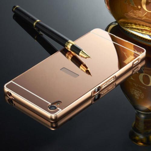 Luxusní kovové zrcadlové pouzdro pro Sony Xperia M4 Aqua - růžové ... 492a12eaaf3