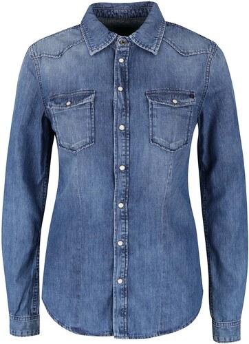 0c48128eff5 Modrá dámská džínová košile Pepe Jeans Rosie - Glami.cz