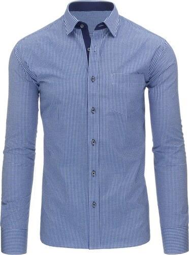 4d4ec872463e Pánska károvaná košeľa (dx1092) - modrá - Glami.sk