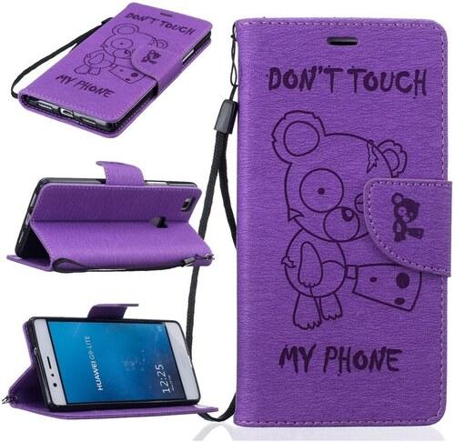 Flipové peněženkové DON T TOUCH MY PHONE pouzdro pro Apple iPhone 5   5S   5e785c14043