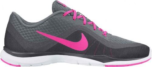 Dámské fitness boty Nike WMNS FLEX TRAINER 6 COOL GREY PINK BLAST-DARK GREY 7738eda914