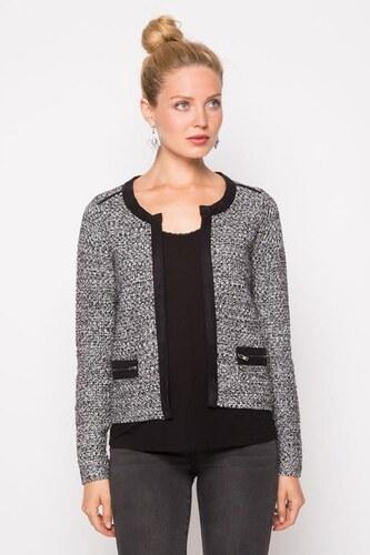 Veste tailleur maille moulinée Noir Coton - Femme Taille 2 - Cache Cache e9e43b4decd7
