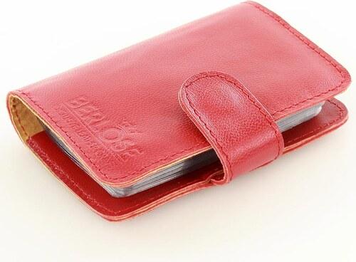 3c7dcfd7f9 Červené kožené puzdro na doklady BERLOSE (p105c) odtiene farieb  červená