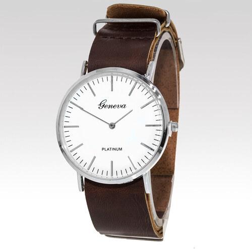 Geneva Analogové hodinky Titus tmavě hnědé - Glami.cz 1d21a8b2389