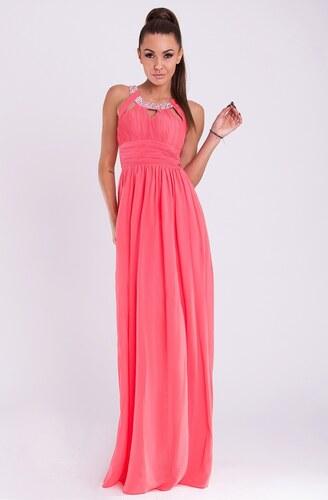 Dámské společenské a plesové šaty dlouhé značkové EVA   LOLA šaty meloun c7f60b55f47
