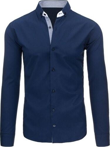 462a7ac6a33 Luxusní pánská modrá košile do společnosti - Glami.cz