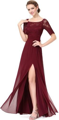 Elegantní Ever Pretty plesové šaty bordo 8793 - Glami.cz f3d4a394e9