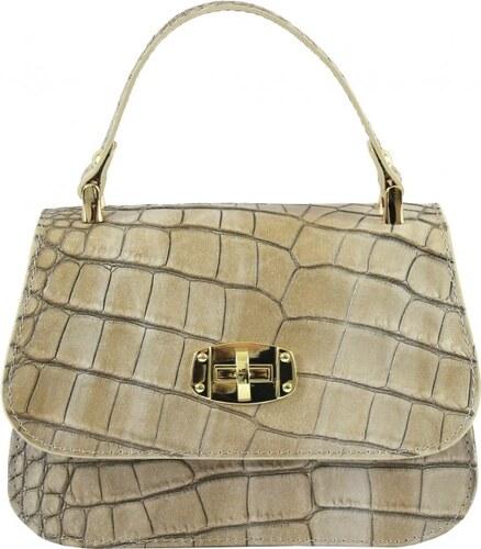 -15% -22% Kožená luxusní menší béžová crossbody kabelka do ruky Zoe VERA  PELLE 20134 a3249b200f2