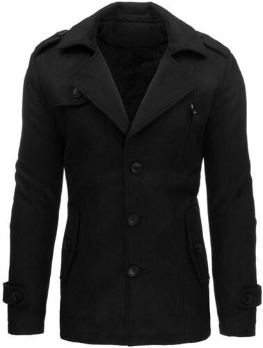 Manstyle Pánsky moderný čierny zimný kabát - Glami.sk 6f6f775988d
