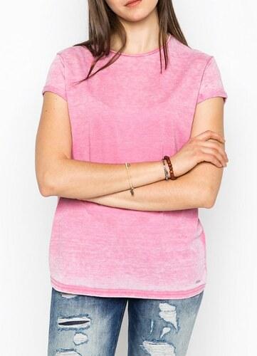 Pepe Jeans dámské růžové tričko Kia - Glami.cz 230f1923a0
