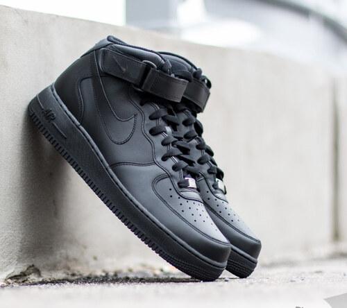 Nike Wmns Air Force 1 Mid ´07 LE Black  Black - Glami.sk cbff6499e08