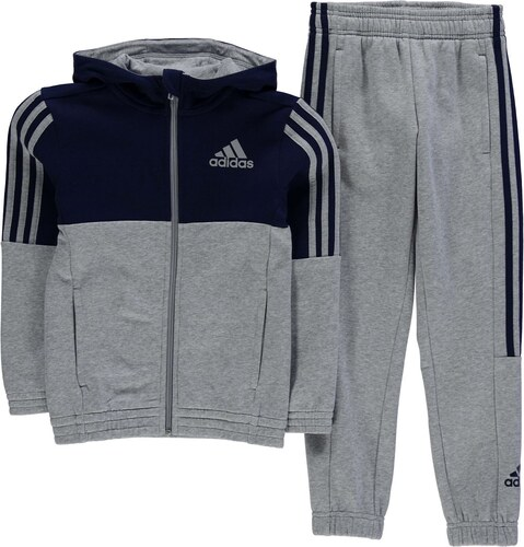 4c81c6125 Detské fleecové oblečenie Adidas 3 Stripe Jogger Suit Junior Boys ...