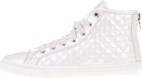 Biele dámske členkové tenisky Geox New Club - Glami.sk c316eea286a