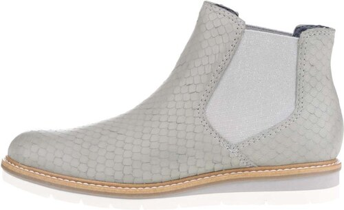 615e182e5026 Svetlosivé kožené vzorované chelsea topánky Tamaris - Glami.sk