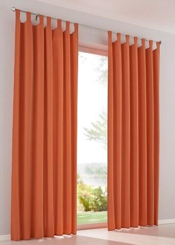Bpc living vorhang uni mikrofaser 2er pack in orange von for Bonprix vorhang