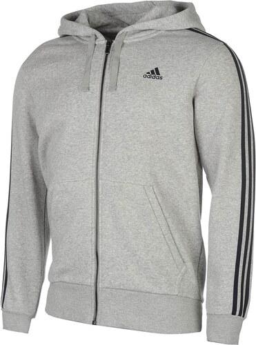 1681adf14ab mikina adidas Essentials 3 Stripe Logo Hoody pánská Grey Heather ...