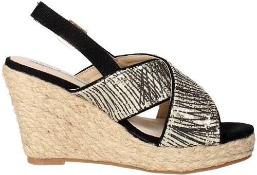 Chika 10 PREMIUM 07 Sandale Femme Noir Noir - Chaussures Sandale Femme